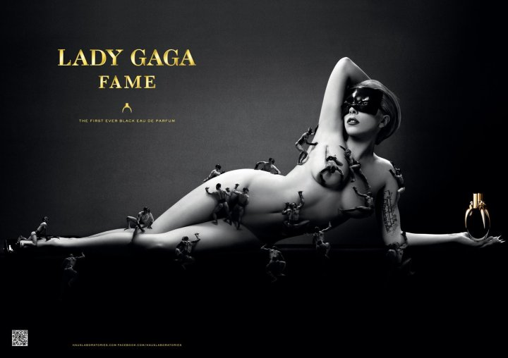 Part of the ad campaign for Lady Gaga Fame